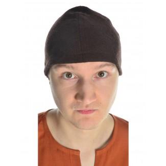 Wikinger Kappe Fafnir in Braun Frontansicht