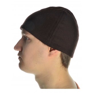 Wikinger Kappe Fafnir in Braun Seitenansicht
