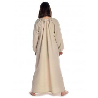 Wikinger Kleid Verandi in Hanffarben Rückansicht