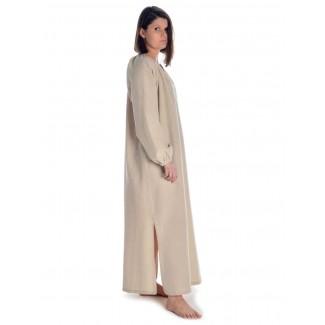 Wikinger Kleid Verandi in Hanffarben Seitenansicht