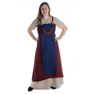 Mittelalter Surkot Skuld in Rot-Blau Frontansicht