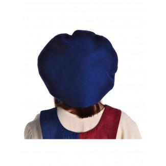 Mittelalter Barett Ade in Blau Rückansicht