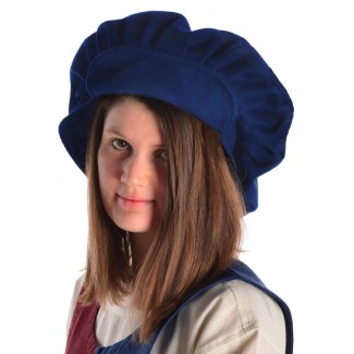 Mittelalter Barett Ade in Blau Frontansicht