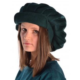 Mittelalter Barett Ade in Grün Seitenansicht