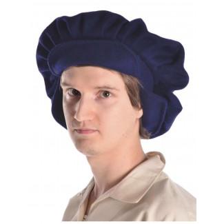Mittelalter Barett Sintram in Blau Seitenansicht
