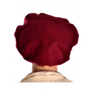 Mittelalter Barett Sintram in Rot Rückansicht