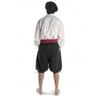 Piraten Hose Urgan in Schwarz Rückansicht 3