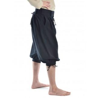 Piraten Hose Urgan in Schwarz Seitenansicht 2
