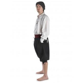 Piraten Hose Urgan in Schwarz Seitenansicht 3