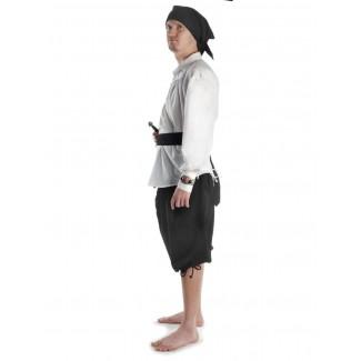 Piraten Hose Urgan in Schwarz Seitenansicht 4