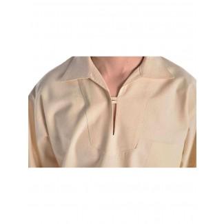 Korsaren Hemd Kaylet in Beige Detailansicht