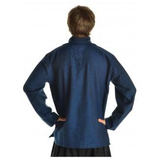 Korsaren Hemd Kaylet in Blau Rückansicht