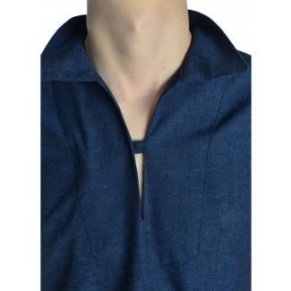 Korsaren Hemd Kaylet in Blau Detailansicht