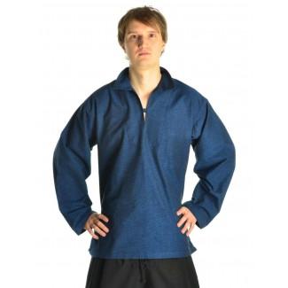 Korsaren Hemd Kaylet in Blau Frontansicht