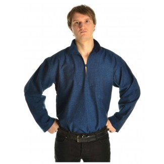Korsaren Hemd Kaylet in Blau Seitenansicht