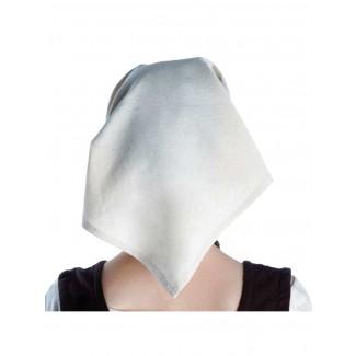 Mittelalter Kopftuch Laudamie in Beige Rückansicht