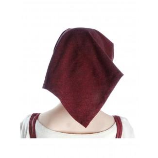 Mittelalter Kopftuch Laudamie in Rot Rückansicht
