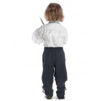 Mittelalter Kinder Hose Sigestab in Schwarz Rückansicht