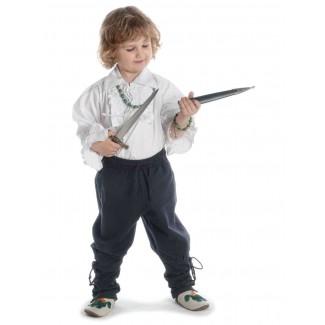 Mittelalter Kinder Hose Sigestab in Schwarz Frontansicht