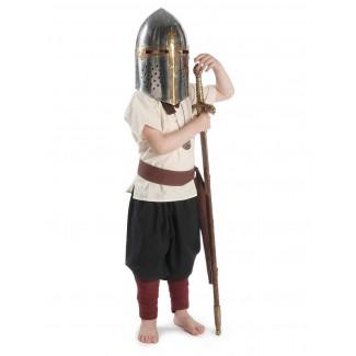 Mittelalter Kinder Hose Sigestab in Schwarz Frontansicht 3