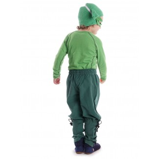 Mittelalter Kinder Hose Sigestab in Grün Rückansicht