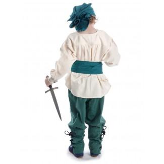 Mittelalter Kinder Hose Sigestab in Grün Rückansicht 2