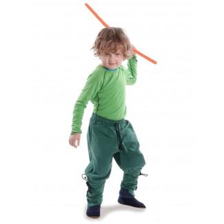 Mittelalter Kinder Hose Sigestab in Grün Frontansicht 6