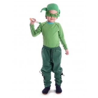 Mittelalter Kinder Hose Sigestab in Grün Frontansicht 7