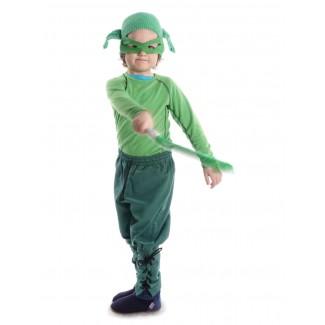 Mittelalter Kinder Hose Sigestab in Grün Seitenansicht