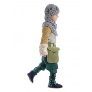 Mittelalter Kinder Hose Sigestab in Grün Seitenansicht 2