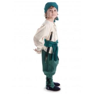 Mittelalter Kinder Hose Sigestab in Grün Seitenansicht 3