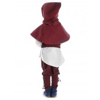 Mittelalter Kinder Hose Sigestab in Rot Rückansicht
