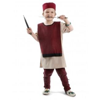 Mittelalter Kinder Hose Sigestab in Rot Frontansicht 3