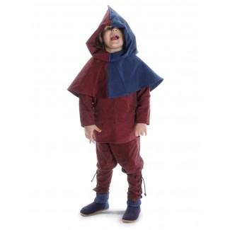 Mittelalter Kinder Hose Sigestab in Rot Frontansicht 5