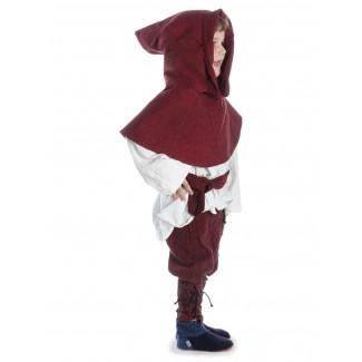 Mittelalter Kinder Hose Sigestab in Rot Seitenansicht 2