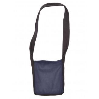 Mittelalter Tasche Dwain in Schwarz-Blau Rückansicht