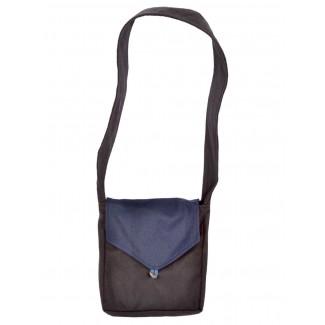 Mittelalter Tasche Dwain in Schwarz-Blau Frontansicht 2