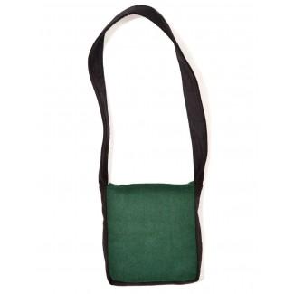 Mittelalter Tasche Dwain in Schwarz-Grün Rückansicht
