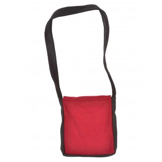 Mittelalter Tasche Dwain in Schwarz-Rot Rückansicht