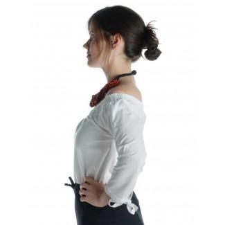 Mittelalter Bluse Swanwhit in Weiß Seitenansicht