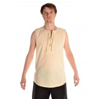 Mittelalter Hemd Heorot in Beige Frontansicht