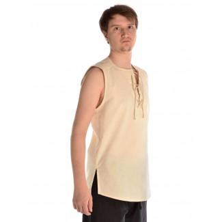 Mittelalter Hemd Heorot in Beige Seitenansicht