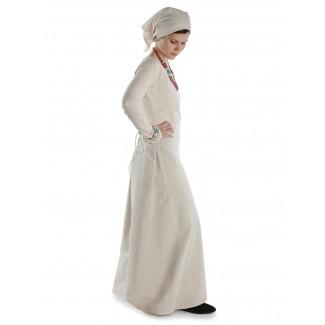 Mittelalter Kleid Hildegunde in Beige Seitenansicht