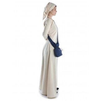 Mittelalter Kleid Hildegunde in Beige Seitenansicht 2
