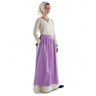 Mittelalter Kleid Hildegunde in Beige Seitenansicht 3