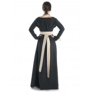 Mittelalter Kleid Hildegunde in Schwarz Seitenansicht 2