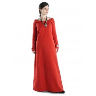 Mittelalter Kleid Hildegunde in Rot Frontansicht