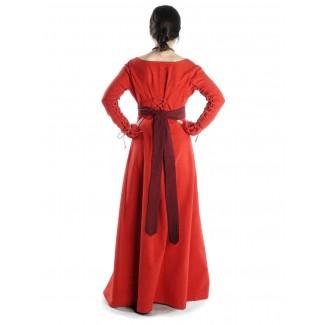 Mittelalter Kleid Hildegunde in Rot Seitenansicht 2
