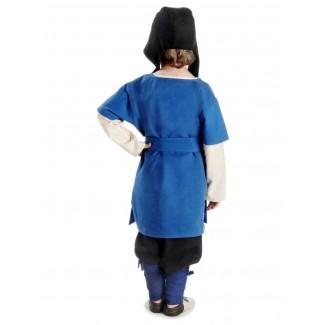 Mittelalter Kinderwadenwickel Boer in Blau Rückansicht 2