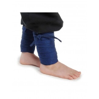 Mittelalter Kinderwadenwickel Boer in Blau Frontansicht